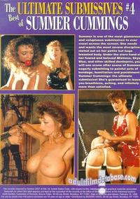 Ultimate Submissives 4 - The Best of Summer Cummings back box cover