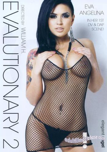 Eva Angelina in body fishnets on front box cover of Evalutionary 2