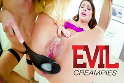 Squirting Adriana's Creampie Foursome